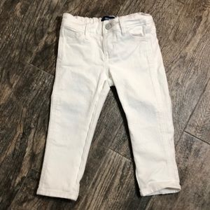 Old navy white cropped skinny jeans